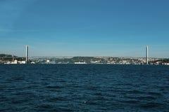Istanbuł Bosphorus Azja i Europa kontynent fotografia stock