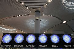Istanbuł lotnisko główny lotnisko międzynarodowe słuzyć Istanbuł, Turcja osiąga zdjęcie stock