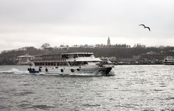 Istanbuł przyjemności łódź zdjęcie royalty free