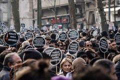 ISTANBUŁ TURCJA, JAN, - 19, 2012: Śmiertelna rocznica Hrant Dink zdjęcia royalty free