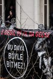ISTANBUŁ TURCJA, JAN, - 19, 2012: Śmiertelna rocznica Hrant Dink obrazy royalty free
