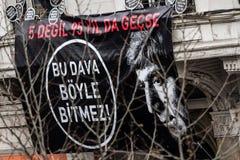 ISTANBUŁ TURCJA, JAN, - 19, 2012: Śmiertelna rocznica Hrant Dink obraz royalty free