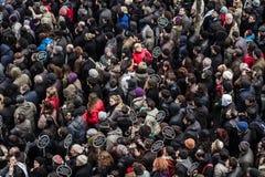 ISTANBUŁ TURCJA, JAN, - 19, 2012: Śmiertelna rocznica Hrant Dink obrazy stock