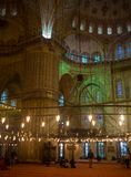 Istanbuł Turcja, Listopad, - 03, 2017: Wnętrze Sultanahmet Meczetowy Błękitny meczet w Istanbuł, Turcja Fotografia Royalty Free