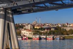 Istanbuł Turcja, OCT, - 23, 2017: Bosphorus cieśnina, Istanbuł, Turcja Fotografia Stock