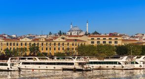 Istanbuł Turcja, OCT, - 23, 2017: Bosphorus cieśnina, Istanbuł, Turcja Obraz Royalty Free