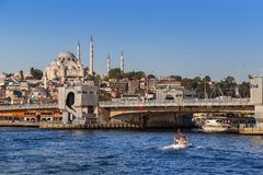 Istanbuł Turcja, OCT, - 23, 2017: Bosphorus cieśnina, Istanbuł, Turcja Obrazy Stock
