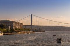 Istanbuł Turcja, OCT, - 23, 2017: Bosphorus cieśnina, Istanbuł, Turcja Zdjęcie Stock