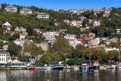 Istanbuł Turcja, OCT, - 23, 2017: Bosphorus cieśnina, Istanbuł, Turcja Obrazy Royalty Free