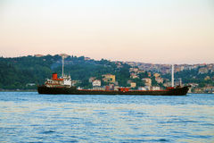 Istanbuł miasta steamship Fotografia Royalty Free