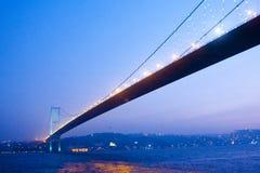 Istanbuł most nad Bosphorus Obrazy Stock