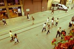 Istanbuł Turcja, Juin, - 17, 2016: Ludzie na Istiklal alei Obraz Royalty Free