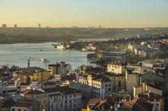 Istanbuł, Turcja, widok od Galata wierza zdjęcie stock
