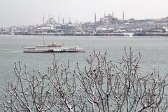 Istanbul à l'hiver neigeux, Turquie Photo libre de droits