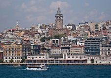Istanbul. On the Bosphorus, home of 4000 mosques and spanning 2 continents - Europe and Asia Royalty Free Stock Images