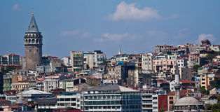 Istanbul. On the Bosphorus, home of 4000 mosques and spanning 2 continents - Europe and Asia Royalty Free Stock Image