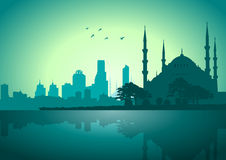 Istanbul. A Vector illustration of Istanbul skyline Stock Images