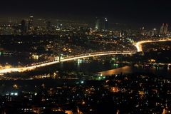 Istanbul. Bosphorus Bridge from Camlica in Turkey Royalty Free Stock Photography