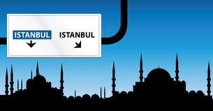 Istanbul. Cityscape of Istanbul at night time Royalty Free Stock Image