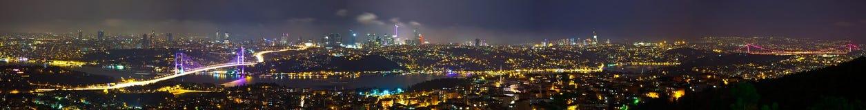 Istanbul. With Bosporus Bridge, panorama shoot Stock Photos