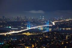Istanbul. With Bosporus Bridge Royalty Free Stock Image