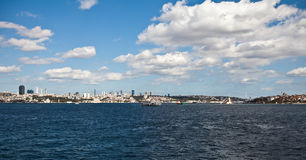 Istanbul. Scene with white clouds Stock Image