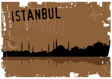 Istanbul. Vector illustration of istanbul silhouette Stock Images