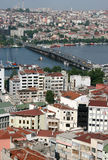 Istanbul aerial view. With Galata Bridge over Bosphorus royalty free stock image