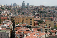 Istanbul aerial view. With lots of old and new buildings stock photography