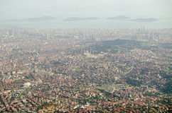 Istanbul aerial view - the Asian side Royalty Free Stock Photo