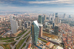 Istanbul. Aerial view of Istanbul, Turkey Stock Photo