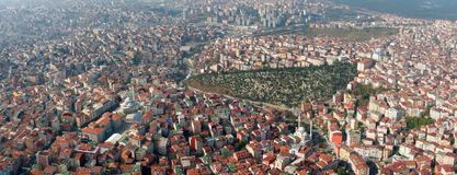Istanbul from air Royalty Free Stock Photo