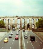 Istanbul aqueduct Stock Image