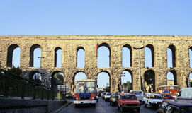Istanbul aqueduct Royalty Free Stock Photo