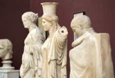 Istanbul Archaeology Museum. ISTANBUL, TURKEY - MAY 16, 2015: Istanbul Archaeology Museum exhibits of sculptures and bas-reliefs of antiquity on MAY 16, 2015 in Royalty Free Stock Photos