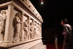 Istanbul arkeologiskt museum Arkivbild