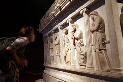 Istanbul arkeologiskt museum Arkivbilder