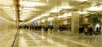 Istanbul Atatürk Airport - entrance hall Royalty Free Stock Images