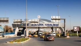 Istanbul Atatürk Airport - entrance Stock Photos