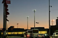 Istanbul Atatürk Airport - evening Royalty Free Stock Photography