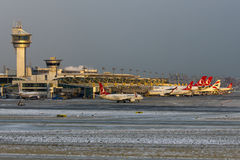 Istanbul Atatürk Airport Ramp Overview Stock Photography
