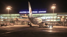 Istanbul Ataturk Airport, Istanbul, Turkey stock video footage