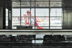 Istanbul Ataturk Airport terminal Royalty Free Stock Photography