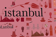 Istanbul background Royalty Free Stock Images