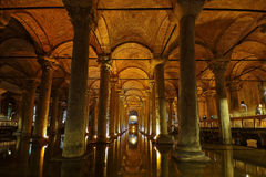 Basilica Cistern in Istanbul Royalty Free Stock Photos