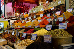 Istanbul Bazaar II. Tea, Spices and sweets in the Egyptian Bazaar of Istanbul Stock Photo
