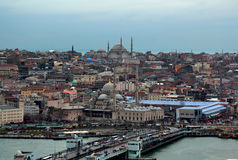 Istanbul. Beautiful Istanbul - View from Galata Tower Stock Photos