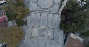 Istanbul Besiktas Seaside Sinan Pasa Mosque Orbiting Aerial View