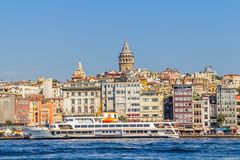 Istanbul Beyoglu district Royalty Free Stock Photos