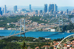 Istanbul from the bird`s-eye view Royalty Free Stock Image